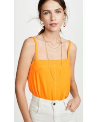 Free People Marisssa Thong Bodysuit - Orange