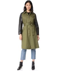 1c56ca68e1bd VEDA - Army Trench Coat - Lyst