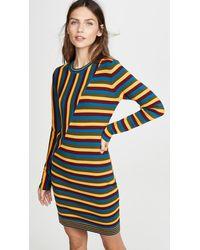 Victor Glemaud Long Sleeve Striped Mini Dress - Multicolour