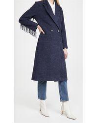 Line & Dot Jesssica Fringe Coat - Blue