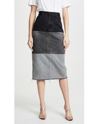 Ksenia Schnaider Reworked Denim Skirt - Black