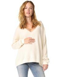 HATCH - Easy V Neck Sweater - Lyst