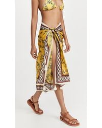 Tory Burch Printed Pareo Cover Up - Yellow