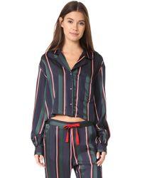 Tommy Hilfiger | Cropped Pyjama Shirt | Lyst