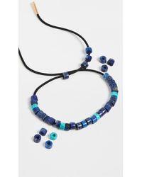 Adina Reyter - Turquoise & Lapis Leather Bracelet Set - Lyst