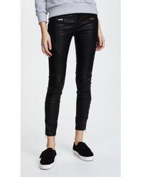 Blank NYC Black Vegan Leather Moto Pants