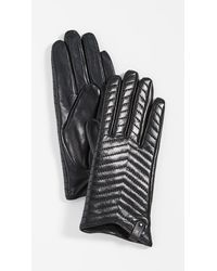 Mackage Cano Leather Gloves - Black