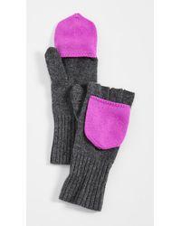 White + Warren Pop Top Cashmere Gloves - Multicolor