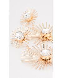 Shashi Gatsby Earrings - Metallic