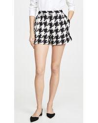 Alice + Olivia Conry Pleated Cuff Shorts - Black