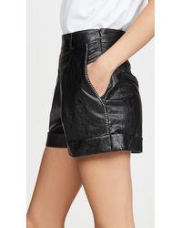 Philosophy Di Lorenzo Serafini Leather Shorts - Black