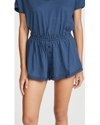 The Great - Sleep Lace Tap Shorts - Lyst