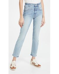 Mother The Dazzler Yoke Front Ankle Jeans - Blue