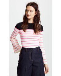 Nude - Striped Sweater With Round Neckline - Lyst