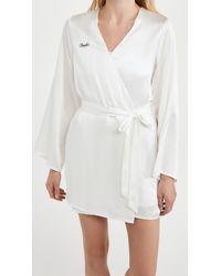 Morgan Lane Bride Robe - White