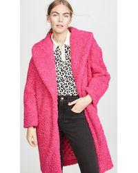 Alice + Olivia Ora Oversized Coat - Pink