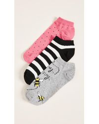 Kate Spade - 3 Pack Of A Buzz Socks - Lyst