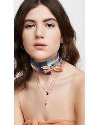 Madewell Silk Skinny Scarf - Multicolor