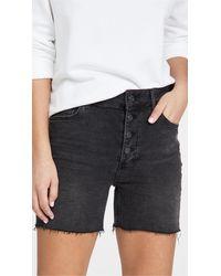 PAIGE Sarah Longline Shorts - Black