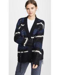 3.1 Phillip Lim Oversized Mohair Striped Cardigan - Blue