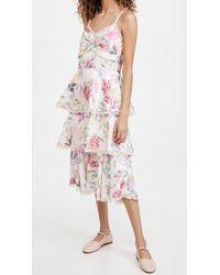 Marchesa notte Printed Sleeveless Midi Dress - Pink