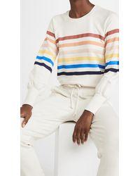 Sundry Striped Raglan Sleeve Sweatshirt - Multicolour