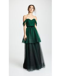 Marchesa notte - Ombre Tulle Tiered Gown - Lyst