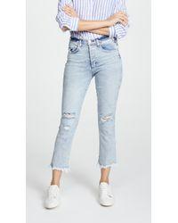 McGuire Denim - High Rise Cropped Valletta Jeans - Lyst