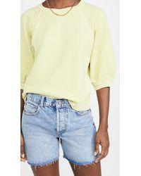 AMO Puff Sleeve Sweatshirt - Yellow