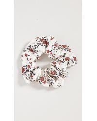 Ganni Printed Crepe Scrunchie - Multicolour