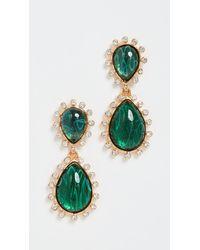 Kenneth Jay Lane Emerald Teardrop Earrings - Green