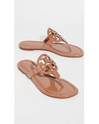 Tory Burch Liana Flat Sandals - Brown