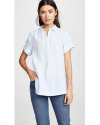 Ayr The Burst Linen Shirt - Blue