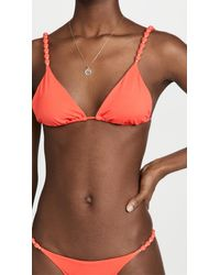 ViX - Solid Beads Triangle Bikini Top - Lyst