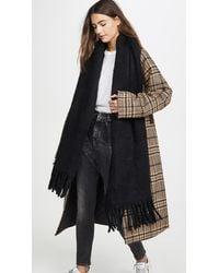 Rebecca Minkoff Woven Blanket Scarf - Black
