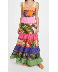 FARM Rio Rainbow Mixed Prints Maxi Dress - Multicolour