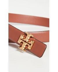 "Tory Burch Kira 1"" Leather Belt W/ Logo Buckle - Multicolour"