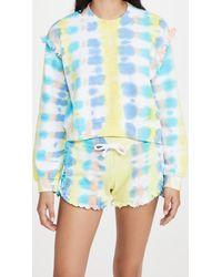 Generation Love Abella Tie Dye Ruffle Sweatshirt - Blue