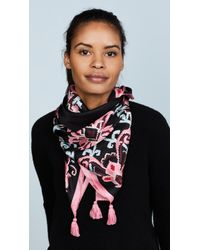 Kate Spade - Tapestry Silk Square Scarf - Lyst