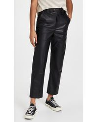 Levi's Math Club Faux Leather Slacks - Black