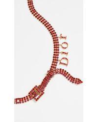 Dior Crystal Belt - Red