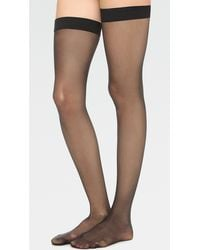 Wolford Individual 10 Stay Up Tights - Black