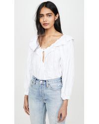 Free People Lily Of The Valley Blouse - White