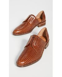 Frēda Salvador Laceless D'orsay Oxford Shoes - Brown