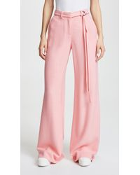 Hellessy - Laurent Belted Wide Leg Trousers - Lyst