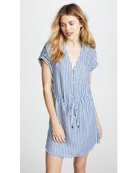 PAIGE - Haidee Striped Chambray Dress - Lyst