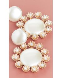 Lele Sadoughi Round Earrings With Plumeria Trim - Multicolour