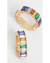 BaubleBar Alidia Huggie Hoops - Multicolour
