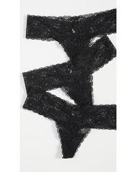 Skarlett Blue Obsessed Thong 3 Pack - Black