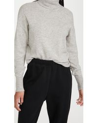 Reformation Cashmere Boyfriend Turtleneck - Gray